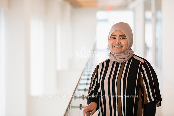 Nada Adibah decided to come to Mason to study health policy. She will be graduating on May 17th. Photo by Lathan Goumas/Strategic Communications