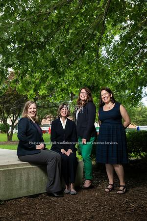 Melissa Broeckelman-Post, Susan Lawrence, Heidi Lawrence, Debra Lattanzi-Shutika.  Photo by:  Ron Aira/Creative Services/George Mason University