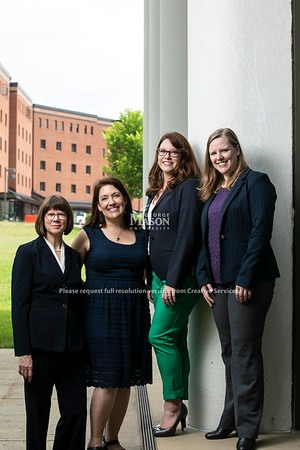 Susan Lawrence, Debra Lattanzi Shutika, Heidi Lawrence, Melissa Broeckelman-Post.  Photo by:  Ron Aira/Creative Services/George Mason University