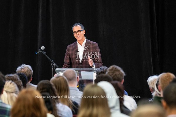 James Forman Jr. Gives the inaugural Roger Wilkins Lecture. Photo by Lathan Goumas/Strategic Communications