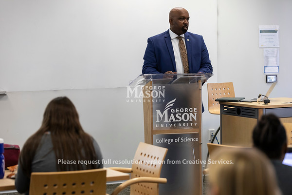 Executive-in-Residence, Affiliate Professor at George Mason University Reginald Allen. Photo by Lathan Goumas/Strategic Communications