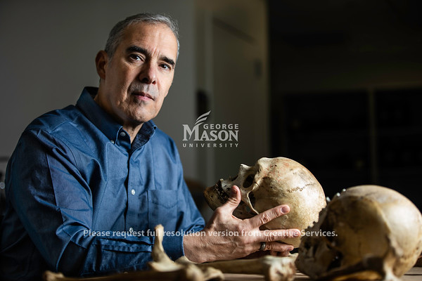 Assistant professor of forensic science and forensic anthropologist Anthony Falsetti. Photo by Lathan Goumas/Strategic Communications