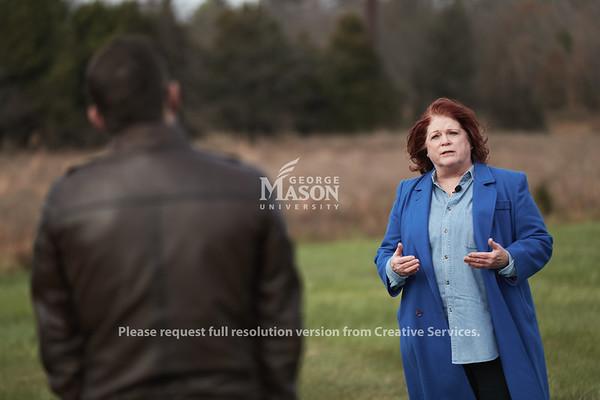 WJLA-TV7 Forensics Interview, Photo By Ian Shiff/Creative Services/George Mason University