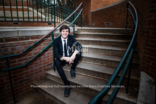 In four and a half years at Mason, Dylan Toms has played the lead in three musicals and five operas. Photo by Lathan Goumas/Strategic Communications