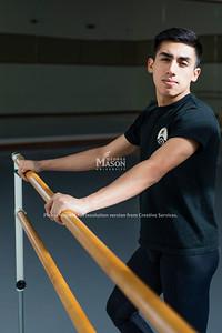 George Mason dance student Carlos Alejandro Martinez Espinosa. Photo by Lathan Goumas/Strategic Communications