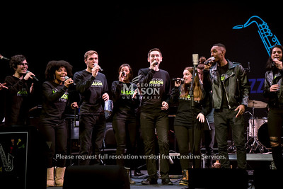 Mason Jazz Studies and the Legal Services of Northern Virginia present the annual Jazz 4 Justice concert where the proceeds go to LSNV and the Prince William Bar as well as the Mason Jazz Studies department. (Bethany Camp/Creative Services/George Mason University)