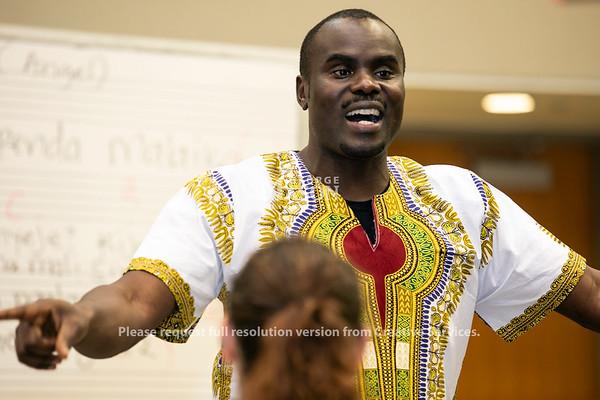 Kenya Choral Music Workshop.  Photo by:  Ron Aira/Creative Services/George Mason University