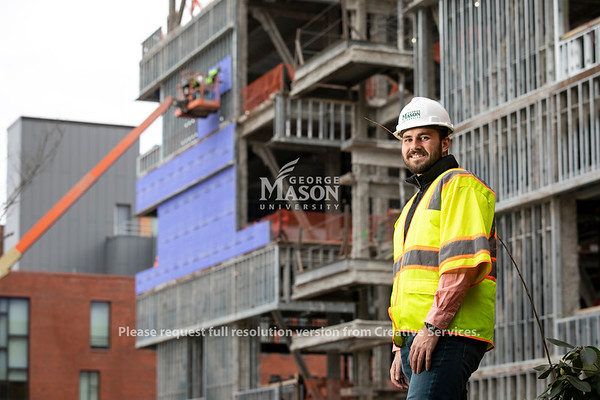 Nicholas Farmer, Civil and Infrastructure Engineering.  Photo by:  Ron Aira/Creative Services/George Mason University