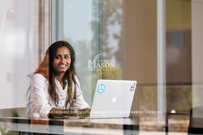 George Mason senior information technology major Dlica Gopisetty. Photo by Lathan Goumas/Strategic Communications
