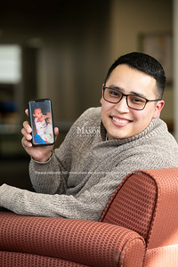 Franklin Funes, management major, School of Business.  Photo by:  Ron Aira/Creative Services/George Mason University