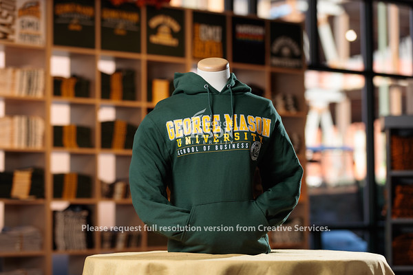 School of Business Impact Product Shoot In Johnson Center Bookstore. Photo by Ian Shiff/Creative Services/George Mason University