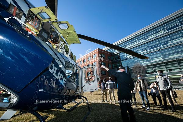 Helicopter Landing Merten Hall Lawn