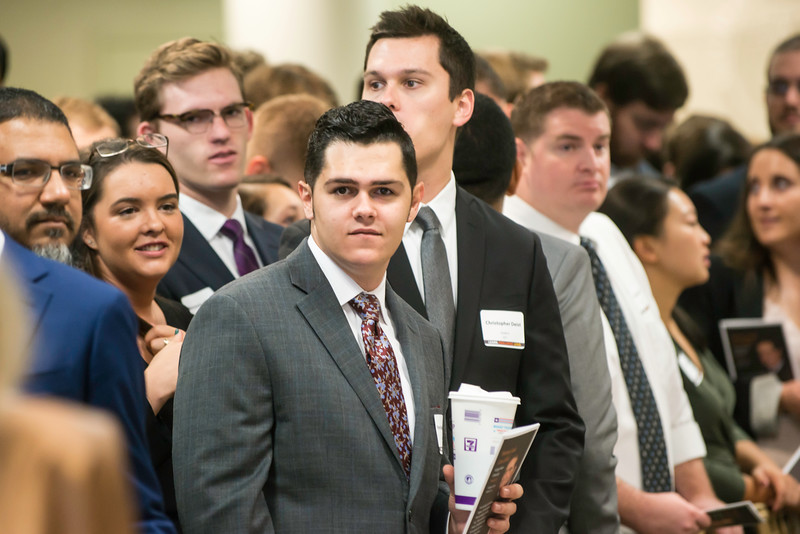 Students at the Antonin Scalia Law School Dedication. Photo by:  Ron Aira/Creative Services/George Mason University