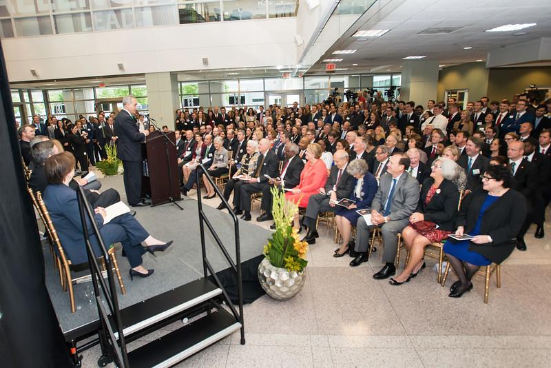 Ángel Cabrera, president, speaks at the Antonin Scalia Law School Dedication. Photo by:  Ron Aira/Creative Services/George Mason University
