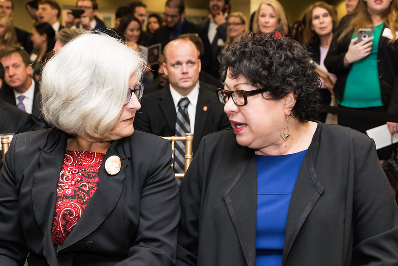 The Honorable Sonia Sotomayor Supreme Court of the United States at the Antonin Scalia Law School dedication ceremony.  Photo by:  Ron Aira/Creative Services/George Mason University