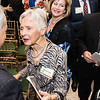 Ángel Cabrera, president, talks with Maureen Scalia at the Antonin Scalia Law School Dedication.   Photo by:  Ron Aira/Creative Services/George Mason University