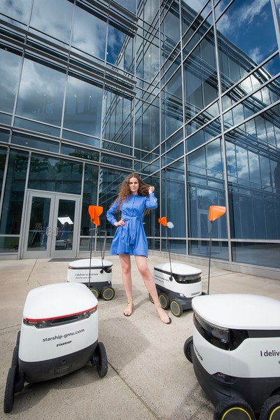 Sofya Vetrova with Starship Robots