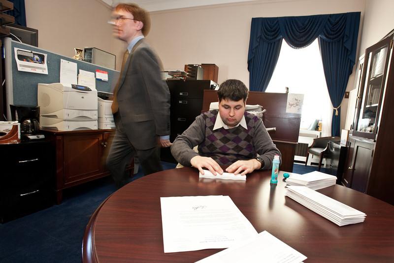 Mason LIFE student Arjun Hemphill works in the Congressional office of Pennsylvania Representative Joe Pitts on Capitol Hill in Washington DC.