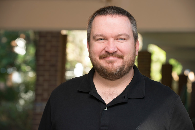 Kevin Taylor is a newly hired full-time faculty member for the ASL program. This is the first time Mason has hired a native speaker to teach ASL courses.  Photo by Bethany Camp / Creative Services / George Mason University