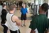 Professor Fred Schack teaches PHED 108: Weight Training and Body Conditioning at the RAC at Fairfax campus. Photo by Alexis Glenn/Creative Services/George Mason University