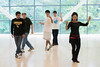Marsha Bonet-Savchenko teaches PHED 107: Social Dance at the RAC on Fairfax campus. Photo by Alexis Glenn/Creative Services/George Mason University