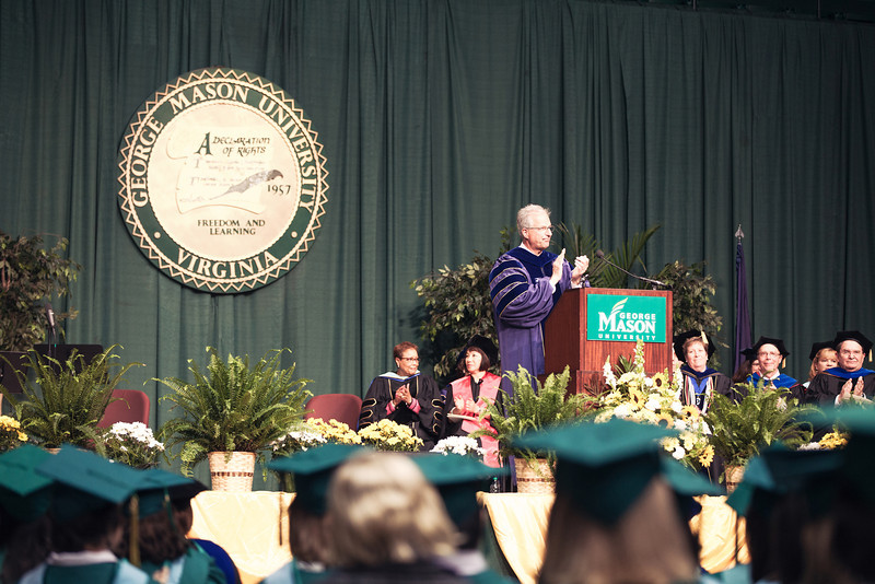 College of Education and Human Development 2013 Convocation ceremony at the Patriot Center.  Photo by Will Martinez/Creative Services/George Mason University