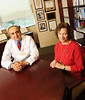 090113081e - Dr. Zobair M. Younossi of Inova Fairfax Hospital and Professor Lynn Gerber, director of CHHS's Center for Chronic Illness and DIsability.