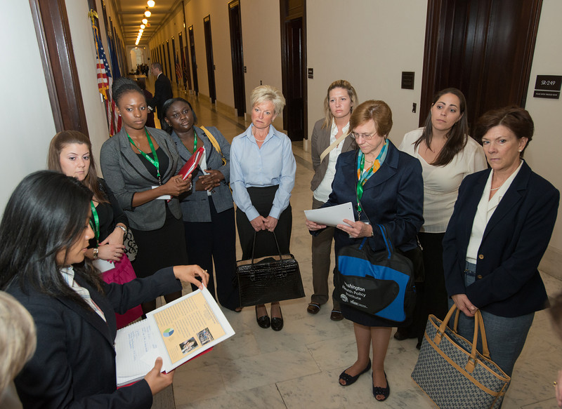 Graduate and doctoral students of the College of Health and Human Services visit offices of members of Congress to lobby various health provider issues on Capitol Hill in Washington DC. Photo by Alexis Glenn/Creative Services/George Mason University