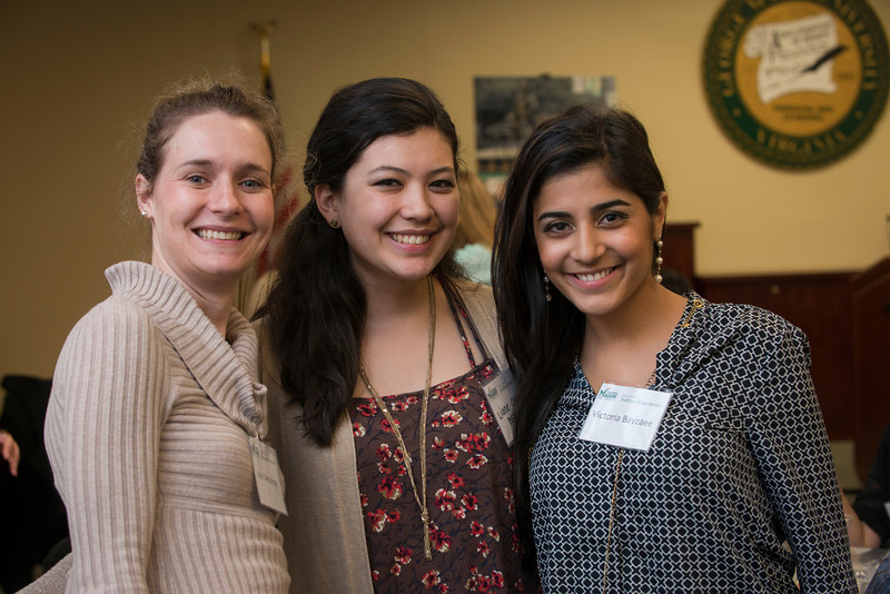 School of Nursing Student-Alumni Networking Lunch. Photo by Evan Cantwell/George Mason University