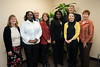 College of Health and Human Services nursing students are presented 4 $2,000 scholarships by the AARP Dulles Chapter at Fairfax campus. Photo by Alexis Glenn/Creative Services/George Mason University