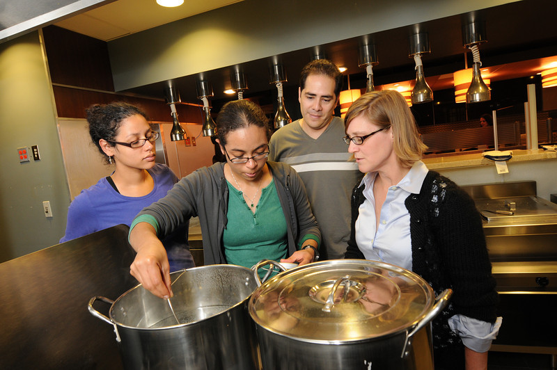 Students in the Food Nutrition studies classroom