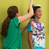 High school students attending nursing camp learn about nutrition and assess their own nutrition through interactive activities. (Bethany Camp/Creative Services/George Mason University)