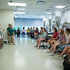 High school students practice nursing techniques through hands on acitivites at Nursing Camp. (Bethany Camp/Creative Services/George Mason University)