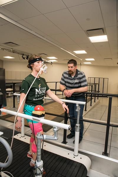 Rehab Lab, Peterson.  Photo by:  Ron Aira/Creative Services/George Mason University