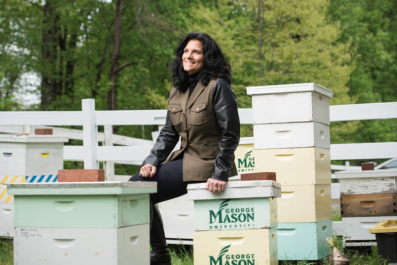 Lisa Struckmeyer is an anthropology grad student that is working on the Honey Bee Initiative.  She has also served as a research assistant to Spencer Crew on his slave narratives book.Photo by:  Ron Aira/Creative Services/George Mason University