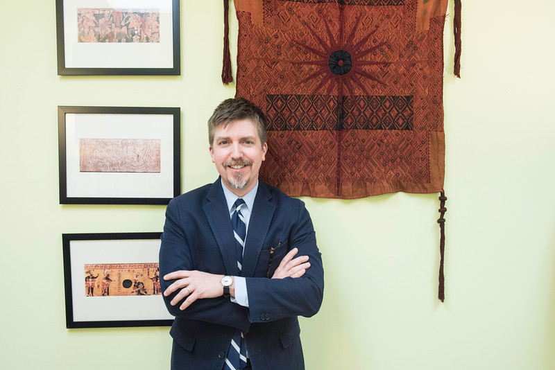 Garry Sparks is Assistant Professor in Religious Studies and a recipient of the NEH grant.  <br /> Photo by:  Ron Aira/Creative Services/George Mason University