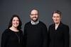 Debra Lattanzi Shutika, Benjamin Gatling, and Joy Fraser. Photo by Creative Services/George Mason University