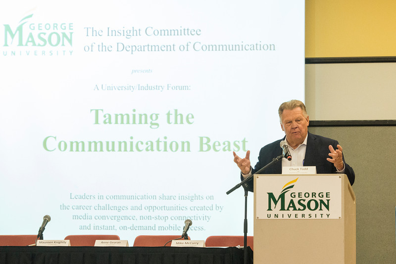 Tom Hoog speaks to Communications students