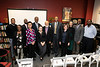 Dr. Mark Hopson (Director of AAAS/COMM), Dr. Yevette Richards Jordan (HIST/AAAS/WMST), Dr. Jacoby Carter, Dr. LaNitra Berger (ARTH/Honors College), Dr. Spencer Crew, Carol Petty, Dr. Rutledge Dennis, Dr. William Harvey, Dr. Rachel Jones, Dr. Rose Cherubin, Dr. Stefan Wheelock, Dr. Keith Clark (ENGL/AAAS) pose for a group photo during the W.E.B. Du Bois and Alain Locke: Activism, Scholarship, and Creativity in Black American Life Interdisciplinary Workshop.  Photo by:  Ron Aira/Creative Services/George Mason University