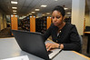 Honors Psychology student studying in the Johnson Center.  Photo by Creative Services/George Mason University