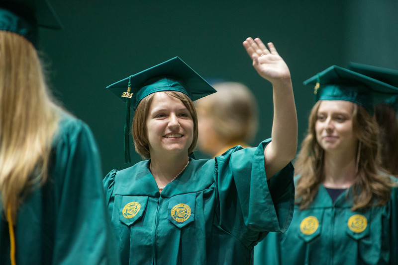 College of Science Convocation inside the Patriot Center. Photo by Craig Bisacre/Creative Services/George Mason University
