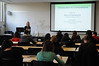 Jocelyn Prendergast, Assistant Professor, Forensic Science Program, teaching Introduction to Criminalistics class.