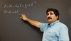 Prof. Amin Jazaeri teaches University Physics at Fairfax Campus. Photo by Alexis Glenn/Creative Services/George Mason University