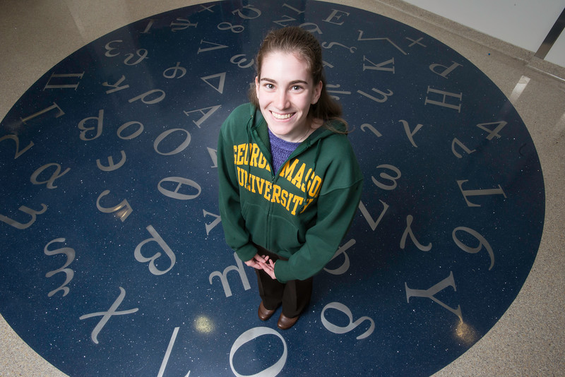 Kathleen McLane has been selected for the prestigious 2016 SMART (Science, Mathematics & Research for Transformation) scholarship by the Department of Defense.  Photo by:  Ron Aira/Creative Services/George Mason University