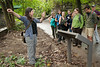 Research Assistant Megan Draheim (L) speaks to students of the Smithsonian-Mason Semester for Conservation Studies program as they participate in an urban entomology lab field trip to Rock Creek Park in Washington DC. Photo by Alexis Glenn/Creative Services/George Mason University