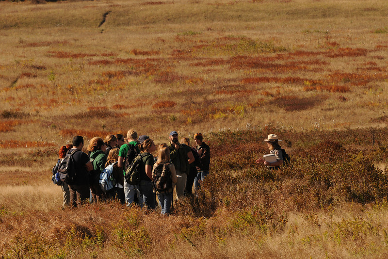 Big Meadow field visit during the Smithsonian-Mason School of Conservation in Front Royal, VA.  Photo by Evan Cantwell/Creative Services/George Mason University