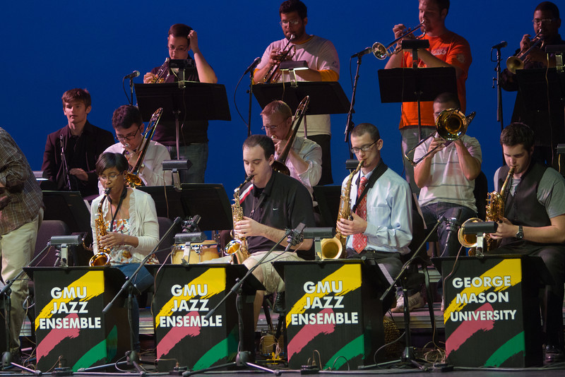 Mason Jazz Ensemble during the dress rehearsal