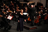 Dr. Kathryn Hearden performs with the George Mason University Symphony.  Photo by Evan Cantwell/Creative Services/George Mason University