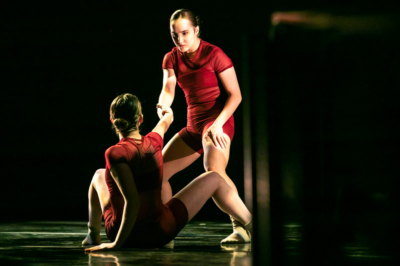 Dancers practice. Photo by:  Ron Aira/Creative Services/George Mason University