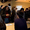 Film, art, music, and theater students attend the Winter Warm-up and Production Fair where they can sign up to work on student films. Photo by Bethany Camp/Creative Services/George Mason University
